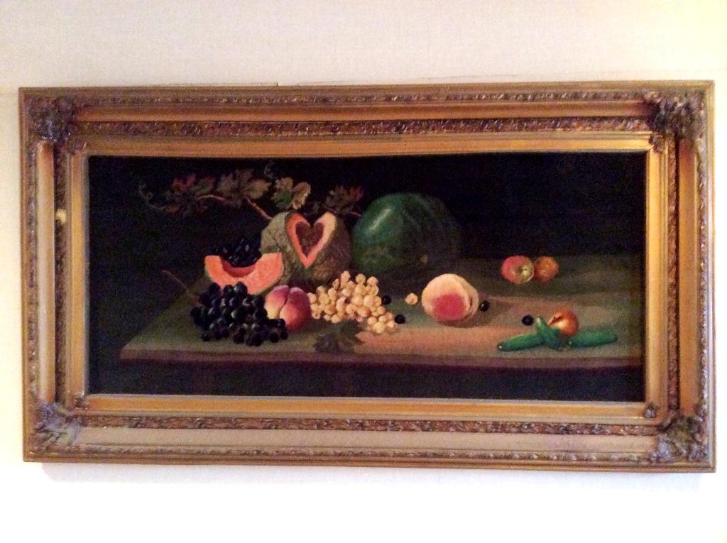 絵画的なペルシャ絨毯タブリーズ産「くだもの」