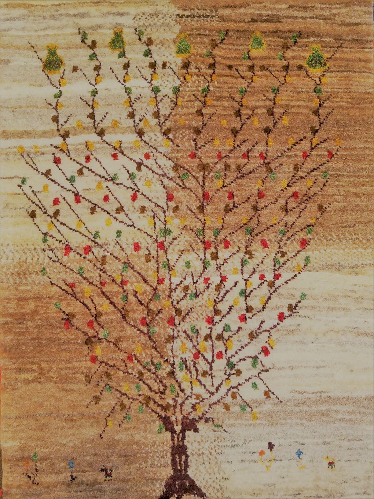 生命の木の優しいギャッベ